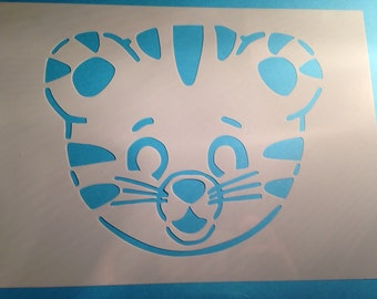 Daniel tiger stencil boys girls bedroom playroom wall fabric painting