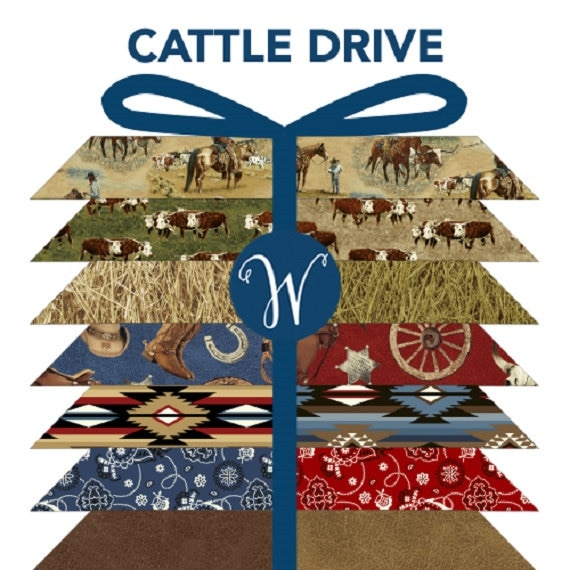 Cattle Drive Quilting Stacker Fat Quarter Stacker Fabric