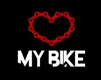 Love My Bike - Men's T-Shirt or Ladies V-Neck
