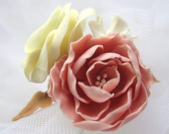 Rose Ivory- bridal hair pin, Bridal flower hair clip, Bridal flower pin, Wedding hair pins, Bridal hair flower