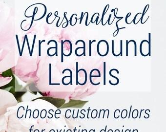 Personalized Wraparound Address Labels | Invitation Labels | Envelope Wraps | Printable Address Labels | Editable Address Label | Wrap Label