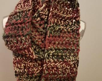 Crochet scarf.  Bulky yarn.  Very comfortable