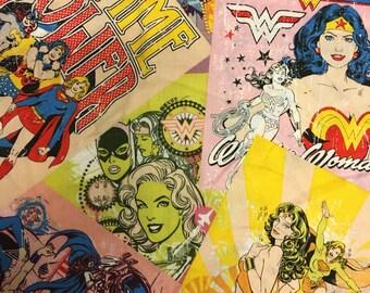 DC comics Wonder Woman cotton fabric