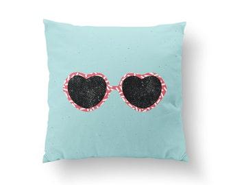 Fashion Pillow, Eye Glasses Pillow, Home Decor, Cushion Cover, Throw Pillow, Bedroom Decor, Bed Pillow, Decorative Pillow, Fashion Decor