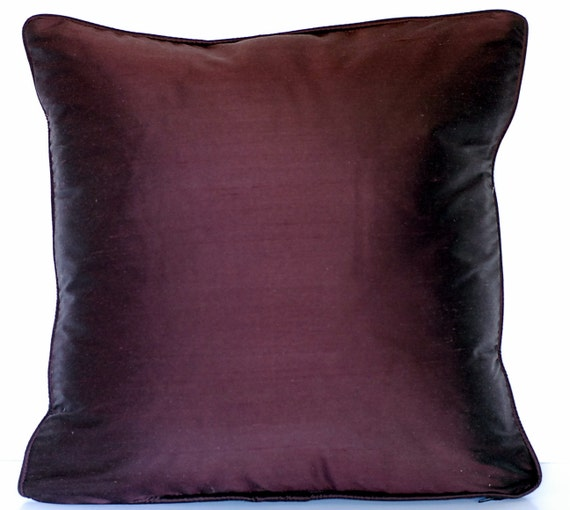 Large Solid Silk Decorative Pillows With By Justtherightpillow