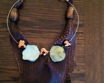 Leather Bib Necklace