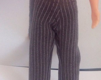 Grey pin stripe trousers