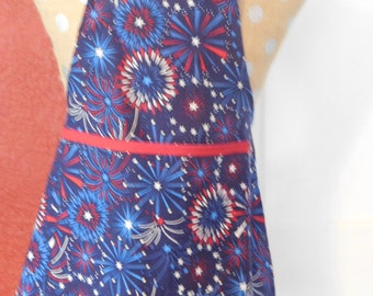 Stars and Stripes FIRWORKS CHILDS APRON --  3-7 yrs old