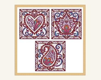 henna style cross stitch patterns