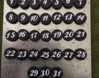 Magnetic Calendar Numbers