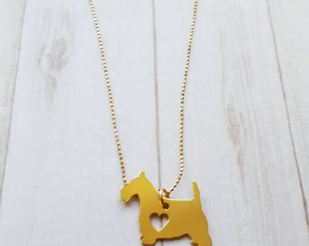 SCOTTISH TERRIER NECKLACE!! Cute Necklace for dog lovers in 24k gold plated over copper Pendant and 18k Gold filled chain