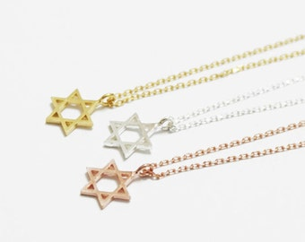 Star of David Statement Stainless Steel Necklace