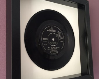 """The Beatles """"All You Need Is Love"""" - Framed Vinyl Gift"""