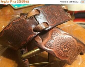 "Super Sale Vintage 1960s amazing hand tooled 42""belt"
