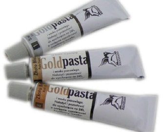 Metallic Rub-On Paste For Picture Frames and Art / Paste for gilt