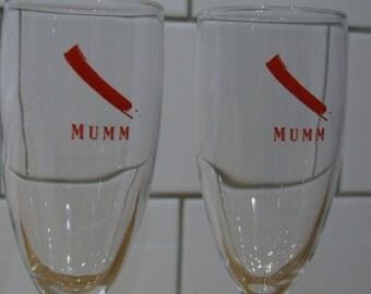 Mumm Champagne // Mumm Champagne glasses // G. H. Mumm Glasses