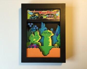 Moon Patrol Arcade 3D Shadow Box