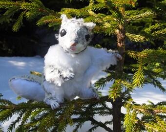 "Reserved! Handmade siberian flying squirrel ""Smile"". ooak artist toy."