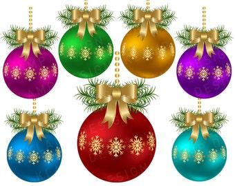 Christmas Balls Clip Art Commercial Use, Digital Christmas Ball, Digital Clipart, Clipart Balls, Holiday Clipart, Christmas Ornament