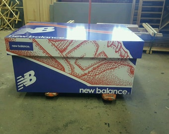 Custom New Balance Inspired Giant Oversized Wood Shoe Storage Box