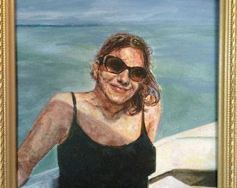 "Custom Portrait, Acrylic, 8"" x 8"""
