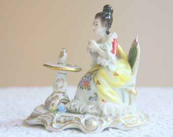 Hard To Find Vintage Volkstedt Dresden Porcelain Figurine