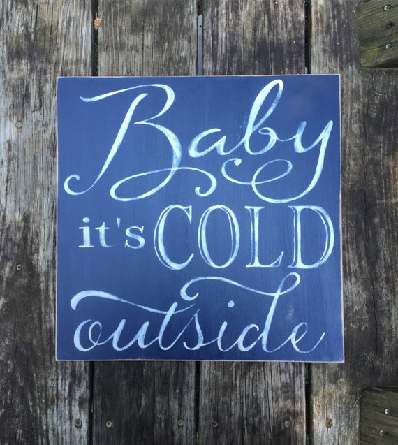Large Wooden Signs Home Decor: Winter Cold Home Decor Wooden Large Sign Baby Cold