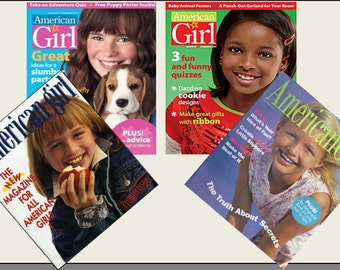 4 Miniature   'AMERICAN GIRL'   Magazines  -  Dollhouse 1:6  1/12th  1/24th  1/48th scale
