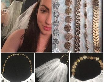 Bridal headband veil *bachelorette party*