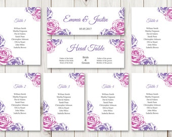 Wedding Seating Chart Template   Ms Word Chart Templates