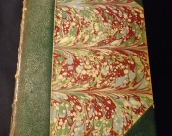 The Complete Poetic and Dramatic Works of ROBERT BROWNING Antique 1895 Marbled and Leather Binding Hardcover Book Poetry Fiction 1800s