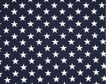 1/2 Yard Navy Blue and White Star Fabric - Premier Prints Navy Blue and White Star Fabric HALF YARD dark blue stars
