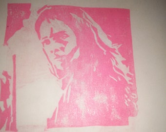 Hermione hand carved rubber stamp