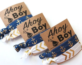 Ahoy its a boy! Baby shower favors , gender reveal , baby announcment