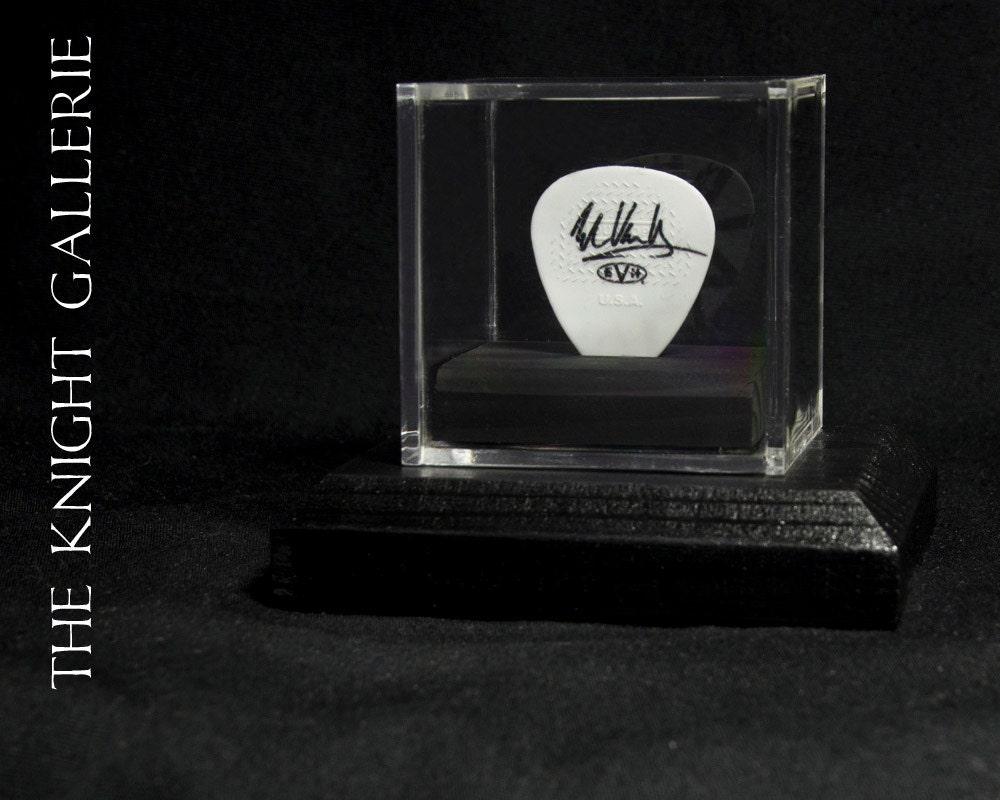 eddie van halen guitar pick and display case. Black Bedroom Furniture Sets. Home Design Ideas