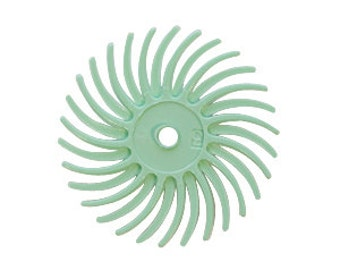 Radial Disc, Light Green, 9/16 Inch, 1 Micron, Pack of 12 | BRS-570.90