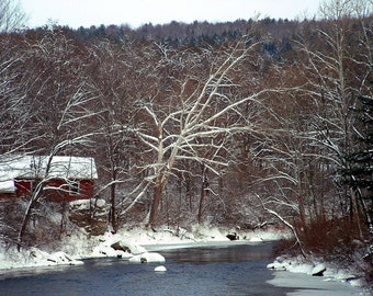 Snowy Vermont River