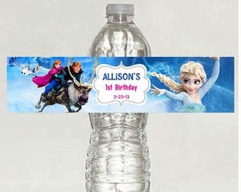 Disney Frozen Water Bottle label - Digital file