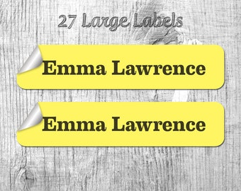 27 Large Personalized Name Labels, Kids Labels, Custom Labels, Name Labels, Clothing Labels, Waterproof, Microwave Proof
