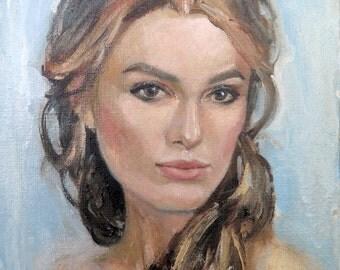 Custom Portrait a-la Prima-Woman's Portrait-Painting from photo-Personalized Portrait-Custom Oil Portrait-Custom Couple Portrait-Oil Canvas