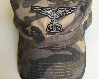Camo cadet-style PBS cap