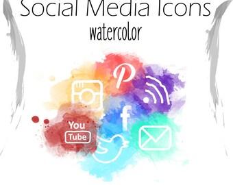 Social media Icons_Watercolor