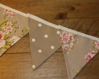 Taupe Flora and Dot Bunting