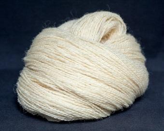 Wool yarn natural - Schafwolle #02 - natural white - knitting yarn