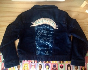 Mathmatical! - Adventure Time 5T child's jean jacket