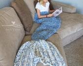 Mermaid Tail Blanket, Blue Mermaid Blanket, Tail Blanket, Crochet Blanket, Crochet Mermaid Blanket, Mermaid Blanket for Adults, Kids Blanket
