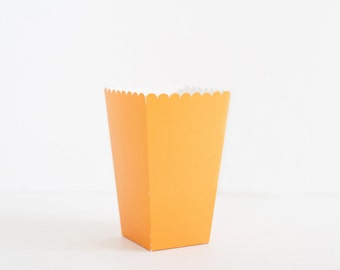 5 Popcorn Boxes Orange, Popcorn scoop, Popcorn Box Scoop, Party Decor, Orange Candy Box, Birthday Party, Orange Party Decor, Candy Bar.