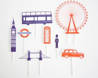 London Cake toppers   London Party