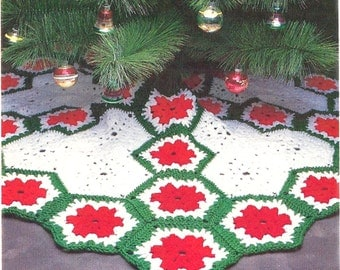Vintage christmas tree skirt pattern | Etsy