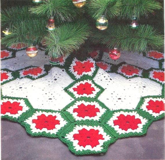 Easy Crochet Christmas Tree Skirt: Quick 'N Easy Crochet Pattern For Christmas Tree Skirt